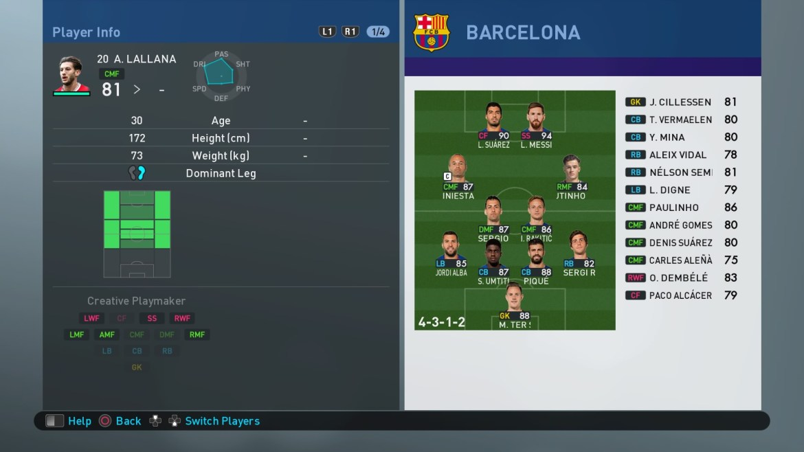 Pes 2019 Player Field