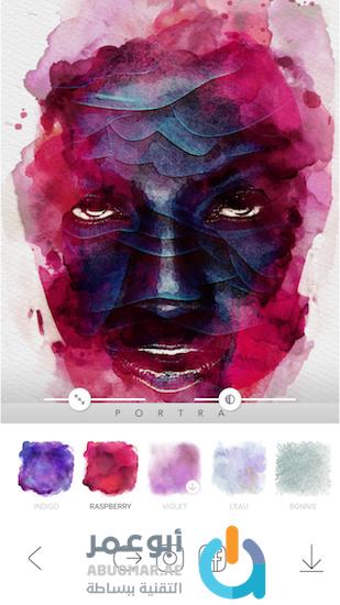 Portra app Raspberry effect