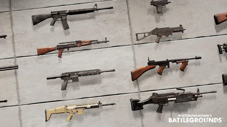 PUBG weapons