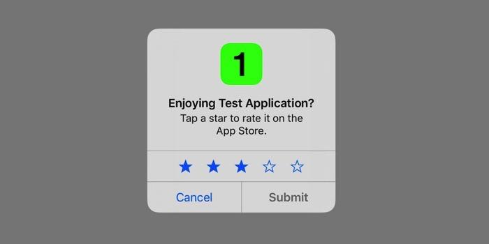 طلبات التقييم داخل تطبيقات الآيفون