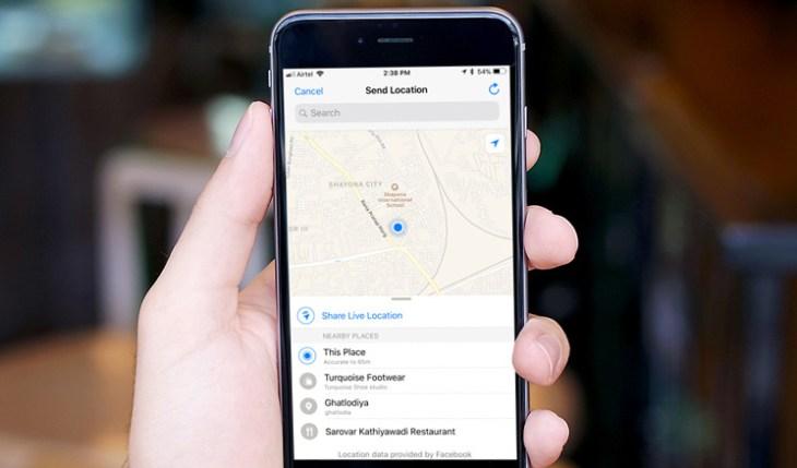كيفية استخدام ميزة Live Location في واتساب على الآيفون