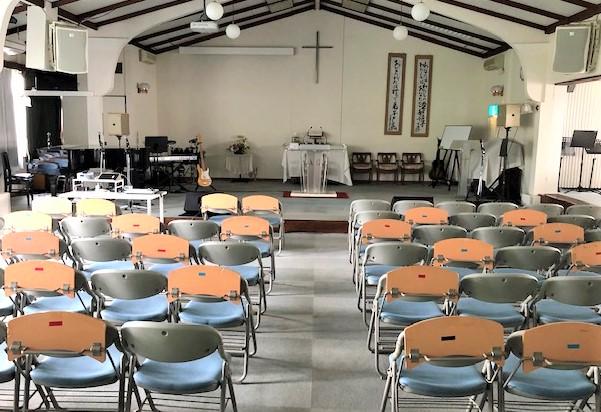 5月31日より教会堂での礼拝を再開します。①6:30~7:30②9:00~10:10③11:00~12:15