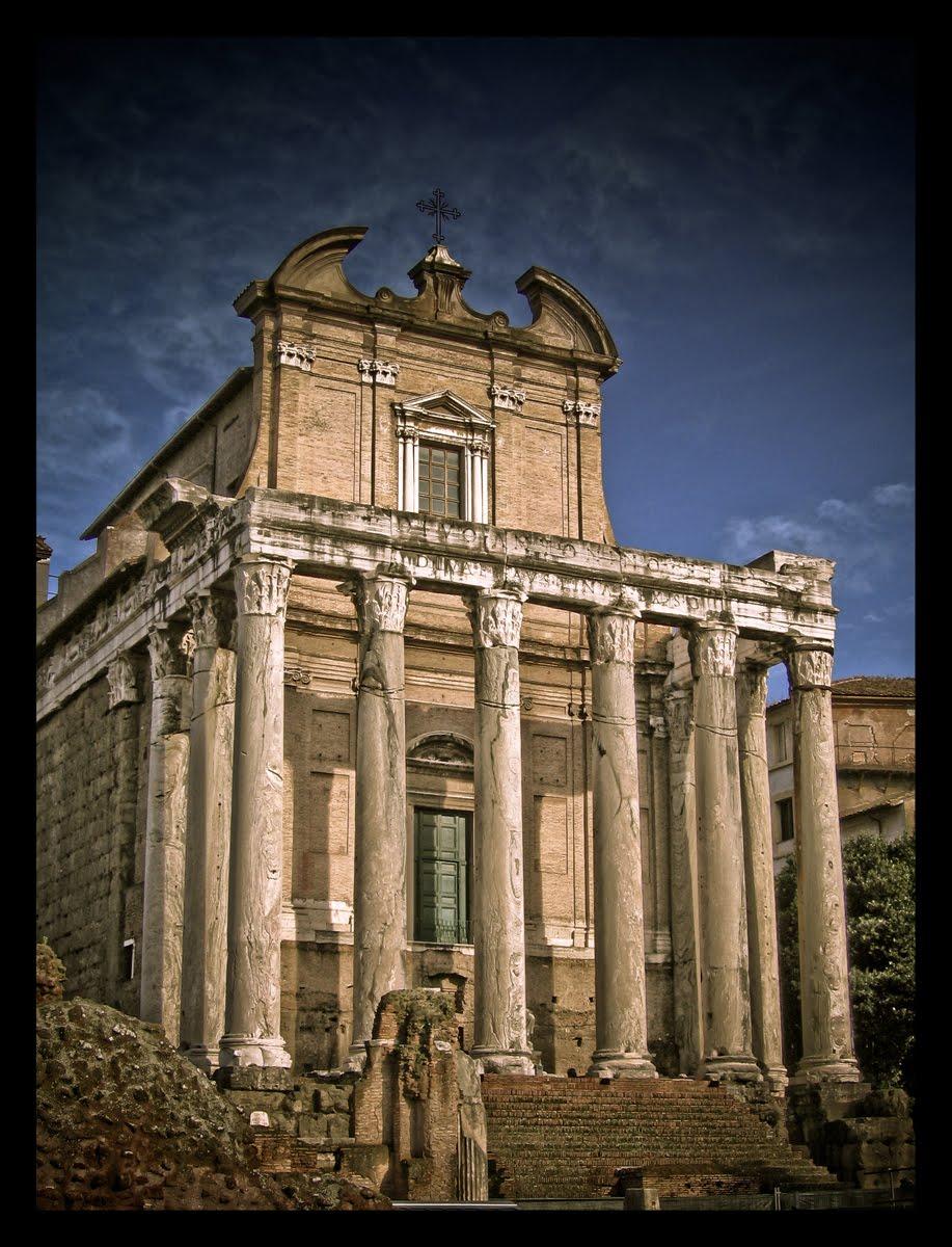 Il foro romano tempio di antonino e faustina ab urbe condita - Howard divo del passato ...