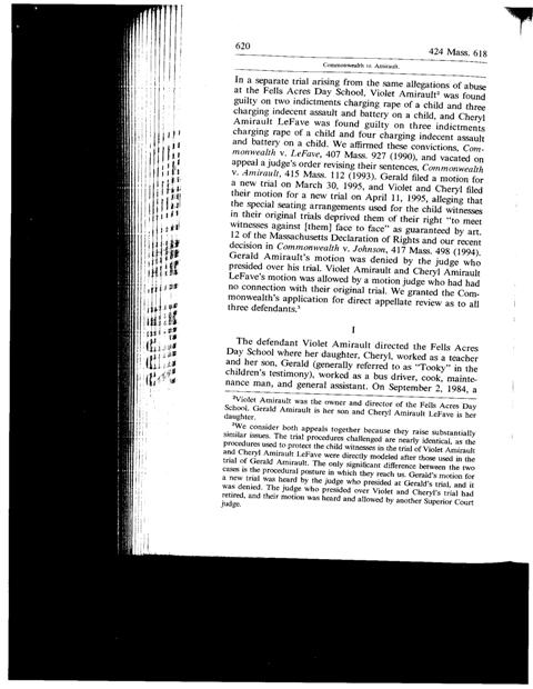 Common vs. Amirault - 424 Mass. 618 - Page620