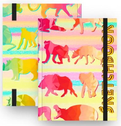 """Caderno, agenda, Sketchbook de """"pele"""" de animais. Sem maltratar os animais."""