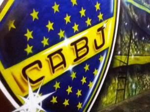 Escudo do Boca Juniors no Estádio La Bombonera