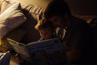 Ned Reading (5 of 6)