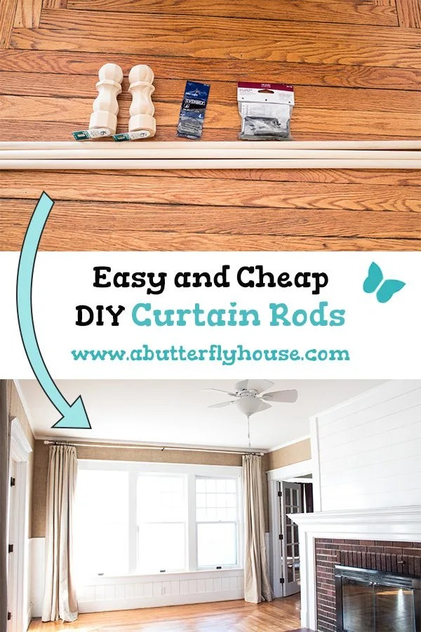 easy and cheap diy curtain rods a