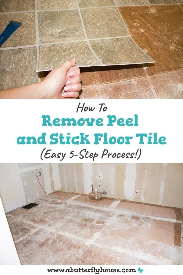 how to remove peel and stick floor tile