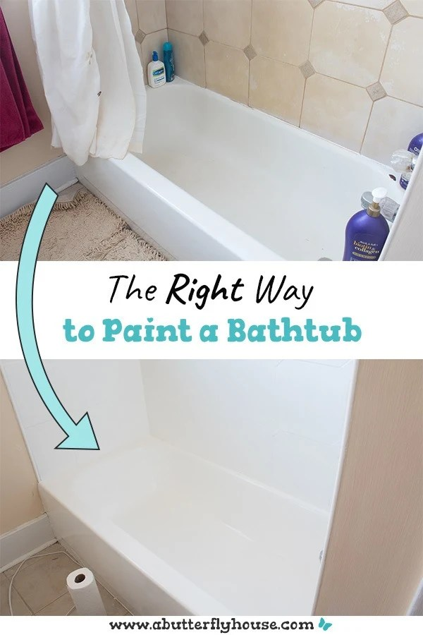 how to refinish a bathtub a butterfly