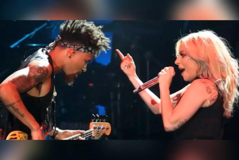 Jonny Goood (left) performing with Lady Gaga.