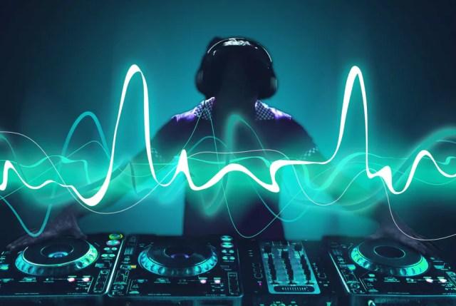 DJ y electricidad, solo un poco de arte de archivo
