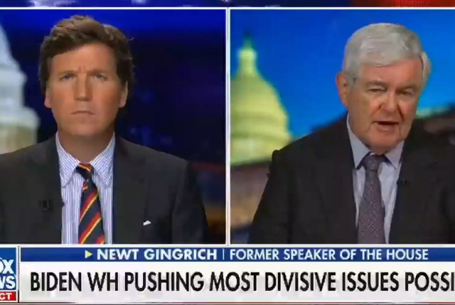 Tucker Carlson y Newt Gingrich