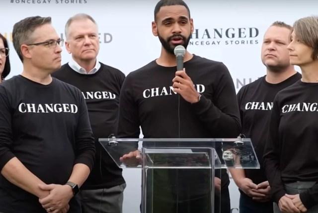 Los activistas de CHANGED celebraron una conferencia de prensa frente al Capitolio de EE. UU. En 2019.