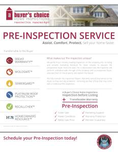 PreInspection (DIY)