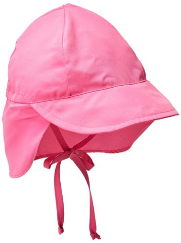 6. Little Girls' Solid Flap Sun Hat
