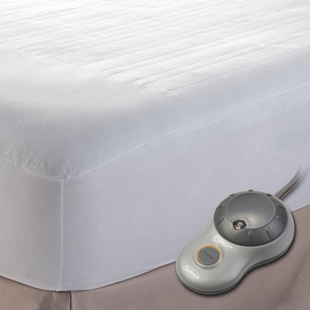 1. Sunbeam Heated Mattress Pad, Twin