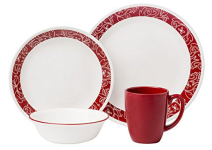 3. 16-Piece Dinnerware Set, Bandhani