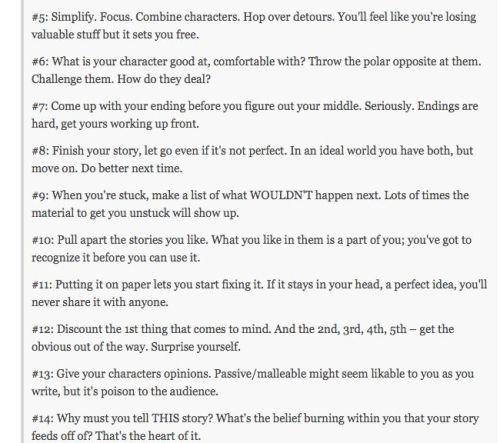 Storytelling according to Pixar