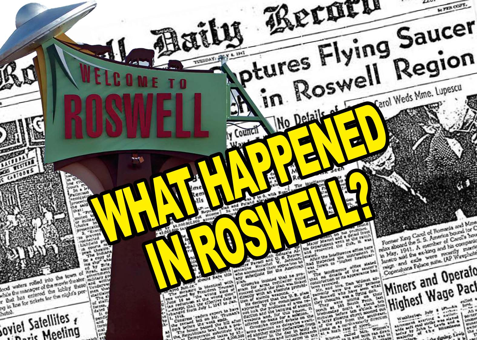 What Happened at Roswell? Now Available From Get Spooky!
