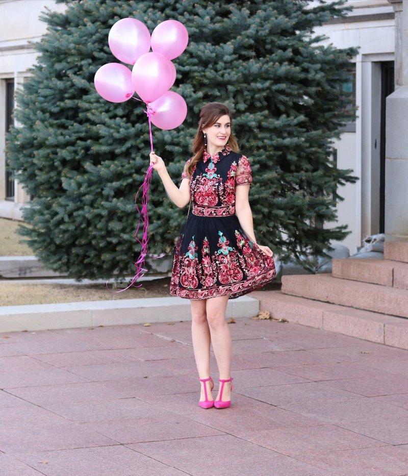 SHEIN-Embroidered-Mesh-Overlay-Skater-Dress.