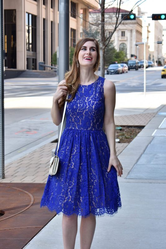 Match day | anxiety | easter outfits for women | easter outfits for women dresses | cobalt dress outfit