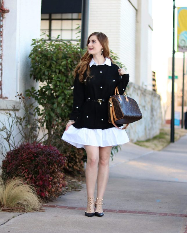 work outfits women | work outfits women office | work outfits women office professional | work outfits women office professional spring | pearl collared dress | trendy work outfits for women | trendy work outfits for women 2018