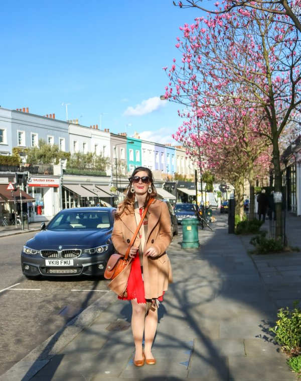 london | things to do in london | London travel | London, England | London fashion | London street style | Burberry scarf with red dress | Burberry scarf with tan coat | notting hill | notting hill london | notting hill london things to do notting hill pictures | notting hill guide | portobello road | portobello road market | Westbourne Grove | wild at heart flowers london \ Burberry - Classic Giant Check Cashmere Scarf