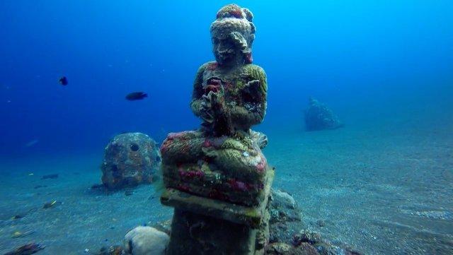 Tulamben's Coral Garden Statue