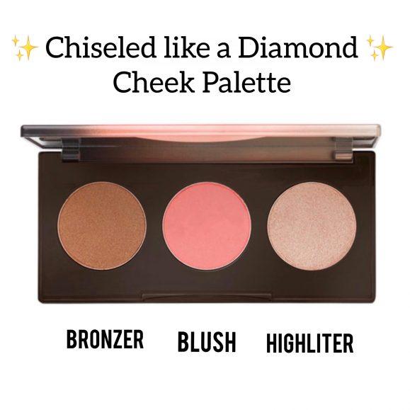Highlighter bronzer blush palette