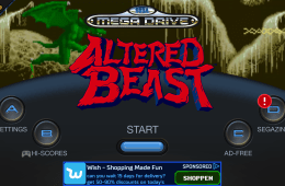 start screen Altered beast sega forever