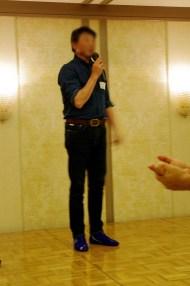 楽しい宴のひと時はATTOIUMADESU.A.T.さんの一本締めでお開きとさせて頂きました。Photo:K.S.