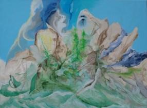 Akvarel-efekt, A.C.Rosmon, Surrealisme, akrylmaleri, lasering