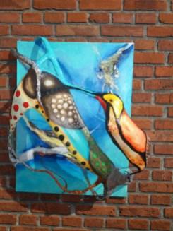 3-D, maleri surrealisme,A.C.Rosmon,akrylmaleri