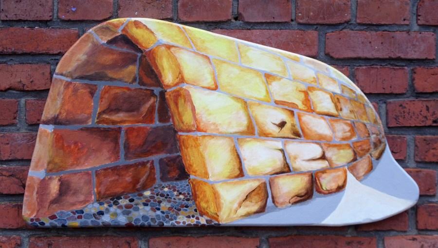 Magisk hule. A.C.Rosmon, ikke firkantet maleri, akrylmaleri