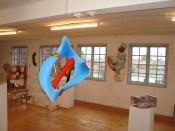 Galleri 14,,A.C.Rosmon,surrealisme,frithængende skulpturelt maleri,