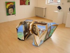 Galleri 14,,A.C.Rosmon,surrealisme,Fritstående skulpturelt maleri