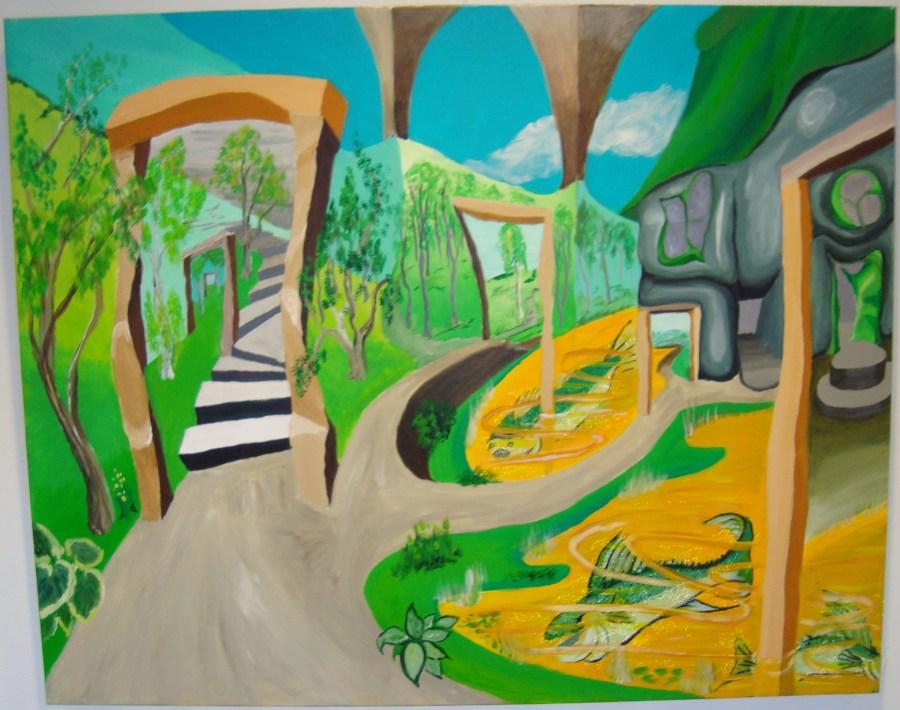 A.C.Rosmon, surrealisme,synsbedrag,akrylmaleri,akryl,