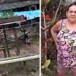 No Acre, vídeo mostra mulher espancando cachorro amarrado