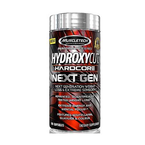 MuscleTech Hydroxycut Hardcore NextGen 100 Capsule on Acacia World