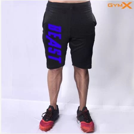 Beast Jet Black Vantage Workout Shorts Front