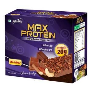 RiteBite Max Protein Bar - Choco Fudge (Pack of 6) on Acacia World