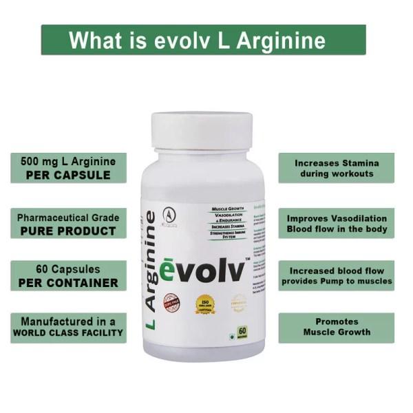 Acacia evolv L Arginine 60 capsules-1153