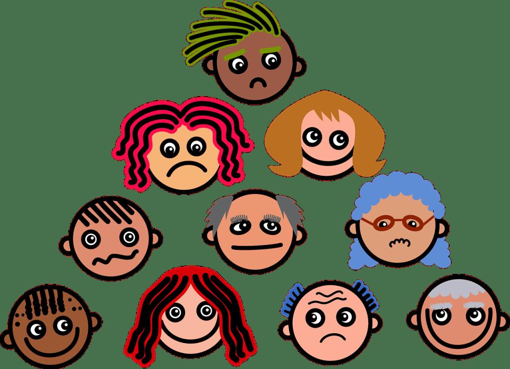 cartoon, faces, expressions