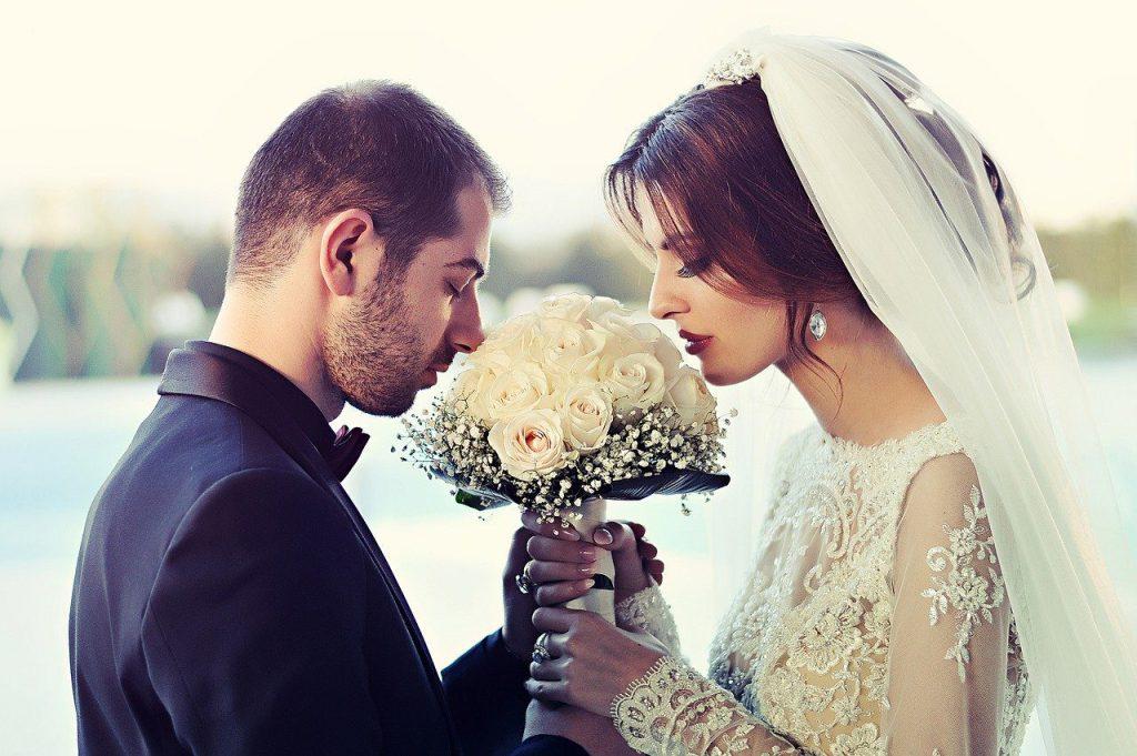 wedding, couple, love
