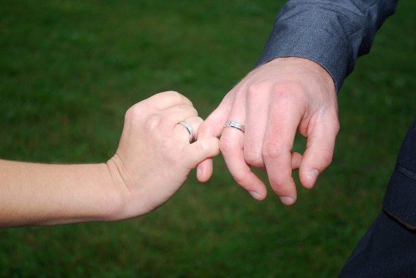 wedding, hands, wedding rings