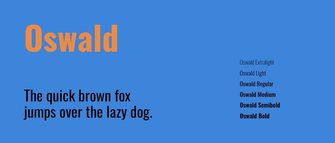 descargar tipografia oswald desde google fonts
