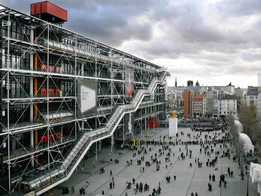 Centre Pompidou, Paris, France by Renzo Piano
