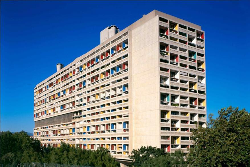 Cite Radieuse en Marsella estilo brutalista