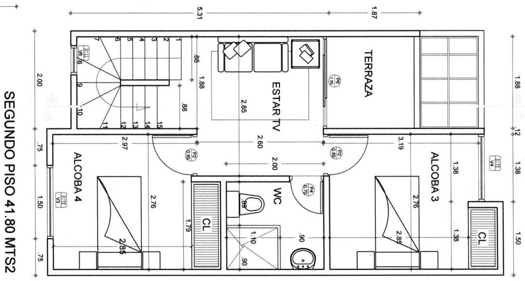 Plano de Casa con Medidas